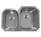 Sonetto S174U Undermount Double Bowl Stainless Steel Sink