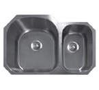 Sonetto S183U Undermount Double Bowl Stainless Steel Sink