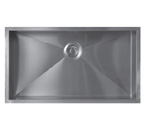 Sonetto S990U Single Bowl 900 Series Zero Radius Stainless Steel Sink
