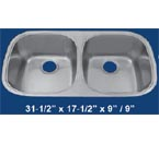 Patriot PAUD01 50/50 Undermount Double Bowl Stainless Steel Sink