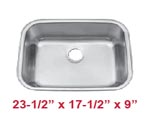 Patriot PAUS08 Undermount Stainless Steel Sink