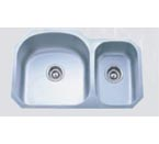 Pelican PL-807L 16 Gauge Double Bowl Platinum Series Stainless Steel Sink