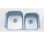 Pelican PL-801L 16 Gauge Double Bowl Platinum Series Stainless Steel Sink