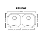 Patriot PAUD02 Undermount Stainless Steel Sink