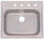 Franke USA SSK101NB/104NB Topmount Single Bowl Stainless Steel Sink