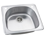 "25"" Stainless Steel Drop In Kitchen / Bar / Prep Sink WCDOM2522"