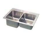 Elkay Lustertone 33x22 3 Hole Double Sink STLR3322L3