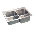 Elkay Lustertone 33x22 3 Hole Double Sink STLR3322R3