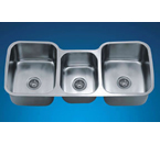 Dawn TDS4520 Undermount Triple Bowl Sink