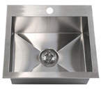 "19"" Top-Mount / Drop-In Kitchen Island / Bar Sink HTS1917"