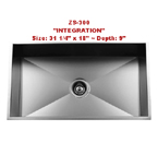 Urban Place Integration ZS-300 Single Bowl Stainless Steel Kitchen Sink